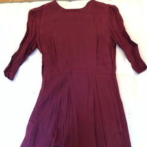 Quarter sleeves burgundy ASOS petite Dress
